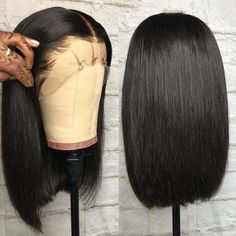 Buy Fennell Straight Bob Brazilian Human Hair Lace Front Wigs 150 Density Full End Glueless Short Bob Human Hair Wigs Baby Hair Women Inch Lace Front Wig) online Wigs Cheap Human Hair, Human Hair Lace Wigs, Curly Wigs, Human Wigs, Afro Wigs, Short Bob Wigs, Short Bob Hairstyles, Wig Hairstyles, Natural Hairstyles