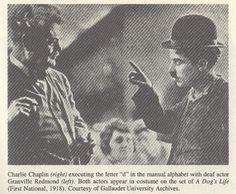 Charlie Chaplin and Granville Redmond