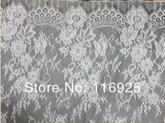 Wedding dress lace fabric french lace fabric with both side scallop ,3 meters/pc-in Lace from Apparel & Accessories on Aliexpress.com