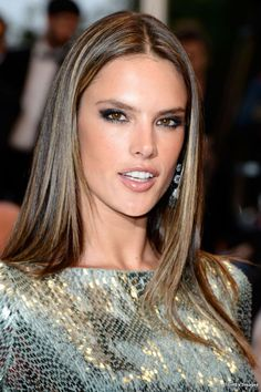 Caramel highlights on actresses alessandra ambrosio middle resultado de imagem para alessandra ambrosio highlights for black hairsubtle pmusecretfo Gallery