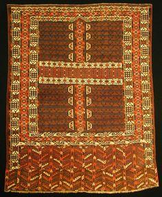 M. Tehrani Yomut Engsi Rug 173 x 134 cm early 19th Century
