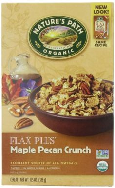 Nature's Path Organic Flax Plus Maple Pecan Crunch Cereal, 11.5-Ounce Boxes (Pack of 6) - http://goodvibeorganics.com/natures-path-organic-flax-plus-maple-pecan-crunch-cereal-11-5-ounce-boxes-pack-of-6/