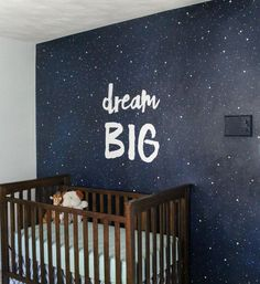 Painting a Starry Sky Mural This is what my daughter in law is doing for our very 1st grandsons room!