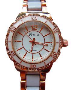 Geneva Marine Watch - Rose Gold and White