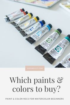 Which Watercolor Paints and Colors to Buy? | rae + lily