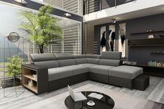 Canapé d'angle réversible convertible Gris ATHENA avec pouf sous la méridienne - Canapé BUT Angles, Convertible, Outdoor Furniture Sets, Outdoor Decor, Couch, Design, Home Decor, Interiors, Photos