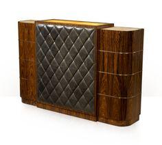 Vintage leather bar cabinet