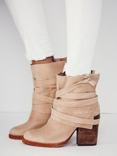 wrapped leather ankle boots from free people