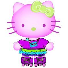 Hello Kitty in Neon Deco 7 Inch Vinyl Figure (Series 1) | ToyZoo.com