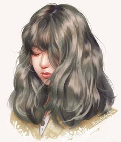 Kai Fine Art is an art website, shows painting and illustration works all over the world. Digital Art Girl, Digital Portrait, Portrait Art, Girl Cartoon, Cartoon Art, Fille Blonde Anime, Pretty Art, Cute Art, Art Sketches