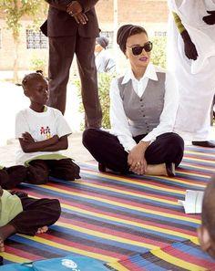 Her Highness visited an alternative learning center in El Obied...