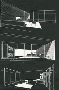 Craig Ellwood, Arts and Architecture, Sep 1950 Architecture Graphics, Architecture Student, Architecture Drawings, Architecture Portfolio, Landscape Architecture, Interior Architecture, Interior Design, Master Arquitectura, Casa Farnsworth