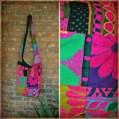 Handmade Embroidered Crossbody Bag from India (Style #1)