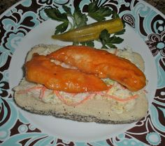 Chef JD's Street Vender Food: Buffalo Chicken Tenders & Cole Slaw on a Poppyseed...