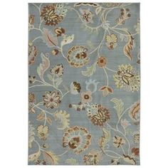 You'll love the Serenity Slate Floral Sol Star Rug at Wayfair - Great Deals on all Rugs products with Free Shipping on most stuff, even the big stuff.