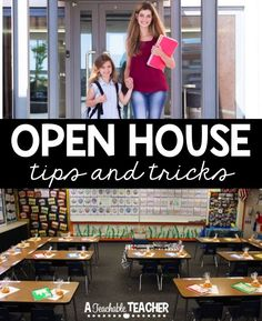 Open House Tips and Tricks. Open House can be so stressful! But it doesn't have to be... these tips and tricks will help you out! Teacher tips open house ideas for teachers | teacher stress relief | end of the year activities elementary