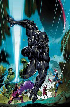 Black Panther Vs Deadpool - (W) Daniel Kibblesmith (A) Ricardo Lopez Ortiz (CA) Ryan Benjamin Marvel Dc, Marvel Comics, Marvel Heroes, Cosmic Comics, Marvel Comic Character, Marvel Comic Books, Marvel Characters, Comic Books Art, Comic Art