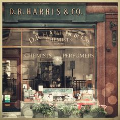 D.R. Harris & Co. -- Chemists and Perfumers, established 1790 in Picadilly, London. One of the reasons why it's best to shop in London.