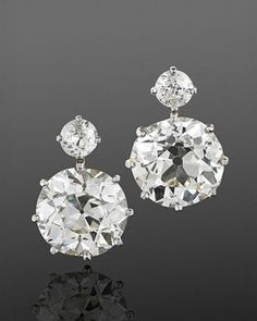 These Fred Leighton simple diamond drops would keep everything chic and elegant!