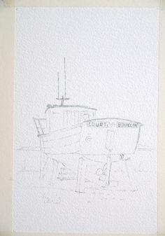 P1430456 Boat, Drawings, Celine, Watercolor Sea, Watercolor Painting, Watercolors, Painting With Watercolors, Drawing Drawing, Oil
