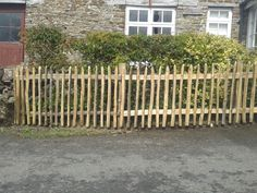 Sweet chestnut paling fence Trellis Fence, Sweet Chestnut, Side Garden, Fences, East Coast, Joy, Outdoor Structures, Rustic, Outdoor Decor