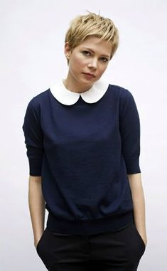 ideas hair styles short pixie michelle williams for 2019 Pixie Crop, Short Pixie, Short Hair Cuts, Short Hair Styles, Michelle Williams Pixie, Pixie Hairstyles, Pixie Haircut, Fashion Hairstyles, Popular Hairstyles