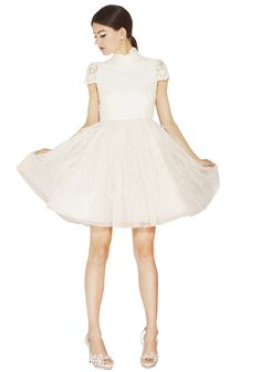 GWEN FEATHER SKIRT DRESS | Alice + Olivia |