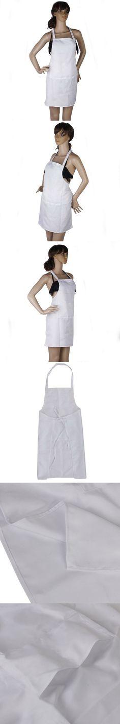 Fashion Kitchen Apron White Women Apron Cooking Chef Restaurant Waitress Apron Best Gift Aprons Wholesale