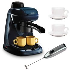 DeLonghi EC5 Steam-Driven 4-Cup Espresso and Coffee Maker (Black) Bundle -- Read more reviews of the product by visiting the link on the image.
