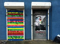 Back to School Magnetic Locker Wallpaper GrafittiBomb with Chalkboard Door