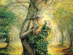 The Dryad and the Tree Spirit  - Jose... Wallpaper