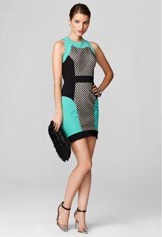 MESH PANEL DRESS - MILLY