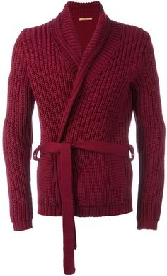 Nuur belted cardigan ($344) ❤ liked on Polyvore featuring men's ...