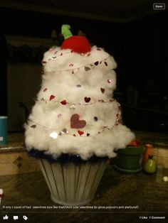cupcake valentine box for my sweet girl - Cupcake Valentine Box