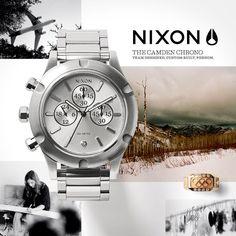 Fresh product board/mood board integration: Nixon: The Camden Chrono & Elena Hight