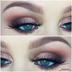 Take a look at the best wedding makeup pink in the photos below and get ideas for your wedding!!! Pink Glittery Eyes + Pink Lips Image source © LuLus.com, 2015.