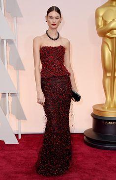 Behati Prinsloo in Armani Privé @ Oscars 2015