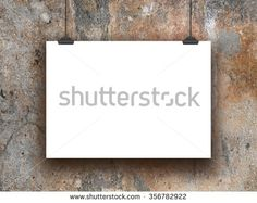 #Stock #photo: #blank #poster #frame with #clips on #weathered #wall #background #shutterstock