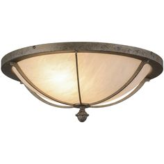 20 Inch W Dominga Flushmount - Custom Made. 20 Inch W Dominga flush mountInspired by the rustic elegance of ancient Greekarchitecture, this stunning steel ceiling fixture features an Alabaster acrylic shade, with GoldHighlights?, for a marbleized look. The fixture is enhanced with a frame, hardware and a decorative accentfeatured in a Corinth finish for an old world look. The fixture is ideal for hallways, living spaces and other rooms in both residential and commercial environments.The...