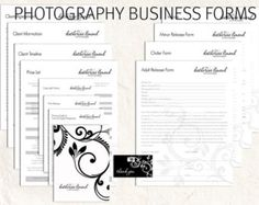 Photography questionnaires  Photography business forms