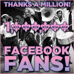 So grateful for 1 MILLION Facebook Fans! xoxo #missmejeans