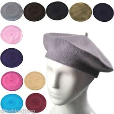 Plain beret hat 100% wool french beret #winter autumn #women | girls #fashion hat,  View more on the LINK: 	http://www.zeppy.io/product/gb/2/141065028477/