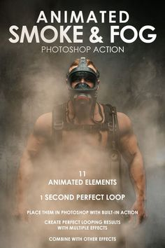 Animated Smoke & Fog #Photoshop Action - #Photo Effects #Actions Download here: https://graphicriver.net/item/animated-smoke-fog-photoshop-action/19576752?ref=alena994