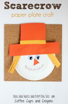 fall scarecrow paper plate craft for kids