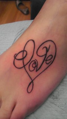 Memorial tattoo on foot