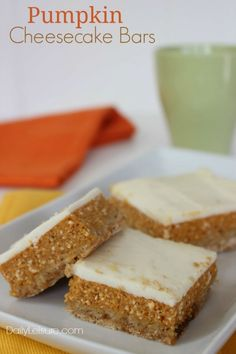 Pumpkin Cheesecake Crumble Squares Recipe — Dishmaps