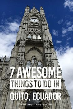 7 Awesome Things to Do in Quito, Ecuador Ecuador is not just the Galápagos! There is so much more to explore in this biodiverse country, and it's quite cheap too. ($0.25 bus rides, anyone?) Don't skip out on Quito quickly either. Located 2,850 meters above sea level, Quito is the highest capital city in the world. Sunny days, cool nights and jaw-dropping mountainous surroundings make this city worth a stop.