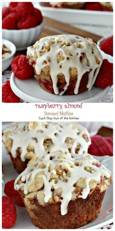 Raspberry Almond Streusel Muffins   Can't Stay Out of the Kitchen   absolutely spectacular #breakfast #muffins filled with #raspberries #almonds and raspberry #Greekyogurt.
