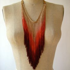 Fringe Necklace Native Red now featured on Fab.