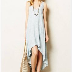 Anthropologie Chambray Dress Cloth & Stone. Never worn. Anthropologie Dresses High Low